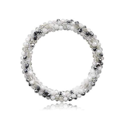 T-Doreen Beaded Stretch Bracelets for Women Handmade Crystal Glass Beads Bracelets