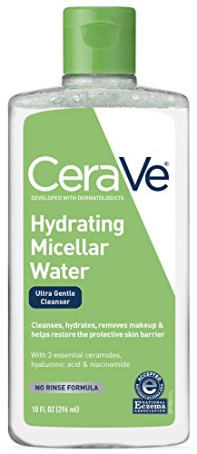 CeraVe Micellar Water & Makeup Remover/Hydrating Facial Cleanser & Eye Makeup Remover w Hyaluronic Acid to Remove Foundation...