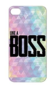 TPU Like A Boss Black Satire Funny Like A Boss Dope For Iphone 5/5s Cover Case