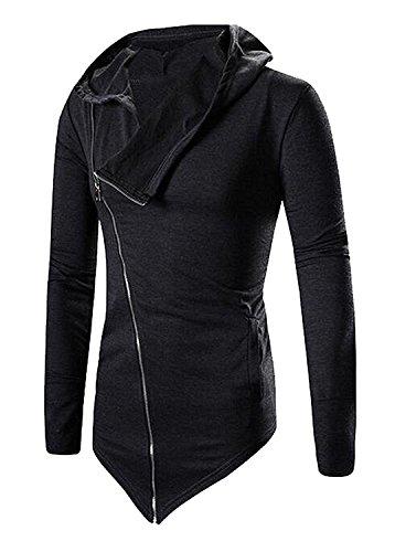 LeNG Mens Hisper Hoodies Sweatshirts Jacket Outwear Dark GreyUS L