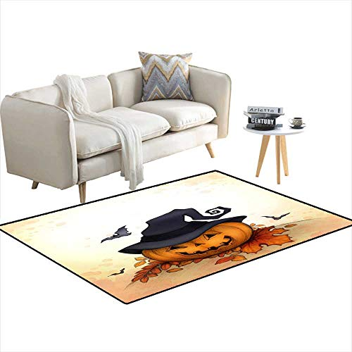 Room Home Bedroom Carpet Floor Mat Halloween backgrounwi Pumpkin 48