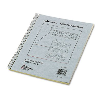 National® Brand - Wirebound Duplicate Lab Notebook, Quadrille Rule, 9 x 11, (Wirebound Rule)
