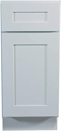 Design House Brookings 12 Fully Assembled Kitchen Base Cabinet, White Shaker