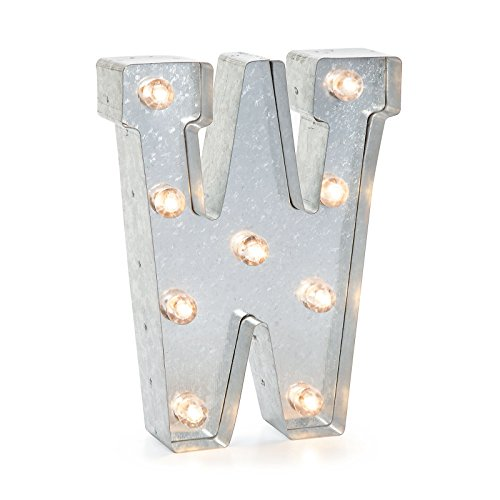Darice Silver Metal Marquee Letter 9 875  W