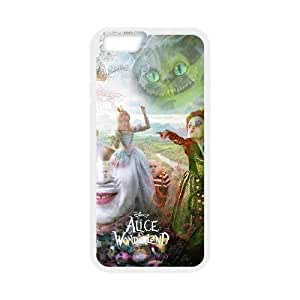 Diy Customized Phone Case Alice in Wonderland Pattern for iphone 6 Plus (5.5 inch) White