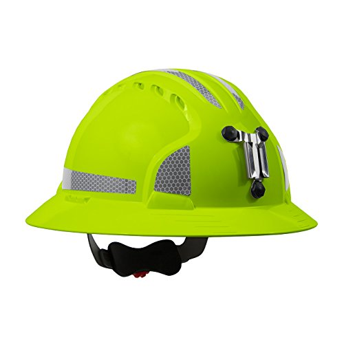 JSP 280-EV6161MCR2-LY Evolution Deluxe 6161 Full Brim Mining Hard Hat with CR2 Reflective -
