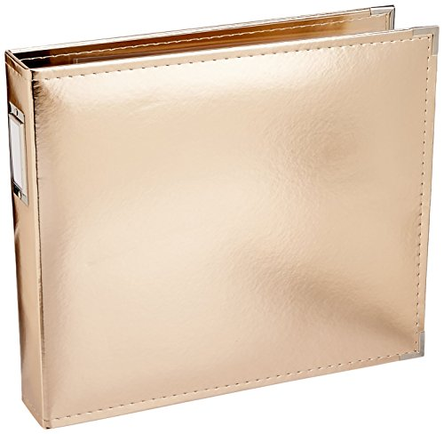 (American Crafts 660110 We R Memory Keepers Classic Leather Album, 12