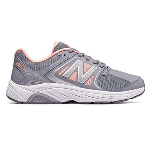 New Balance Women's 847v3 Walking Shoe Grey-luxe Pink