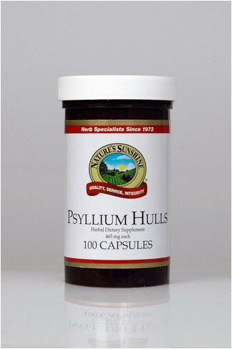 Naturessunshine Psyllium Hulls Digestive System Support 465 mg 100 Capsules (Pack of 12)