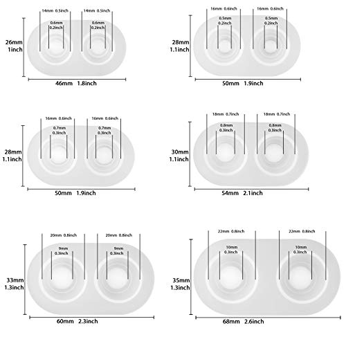 Funshowcase Eyeball Dome Silicone Molds 6-Count