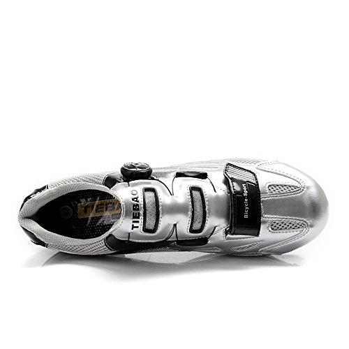 Tiebao Radfahren Schuhe Off Road Zapatillas Deportivas Turnschuhe Silber