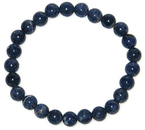 [해외]9 월 탄생 석 AA 8mm 사파이어 팔찌 (직경 15cm 여자: S) / September Birthstone AA 8mm Sapphire Bracelet (Inner Diameter 15cm Female:S)