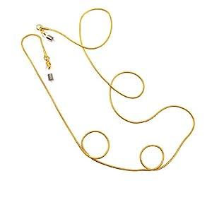 Stainless Steel Plated 24K Gold Eyeglass Chains Glasses Holder Sunglasses Neck Strap Eyeware Cord (Golden)