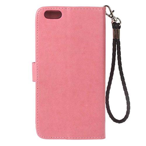 COWX iphone 6 Hülle Kunstleder Tasche Flip im Bookstyle Klapphülle mit Weiche Silikon eule Handyhalter PU Lederhülle für Apple iphone 6S Tasche Brieftasche Schutzhülle für iphone 6S 6 schutzhülle