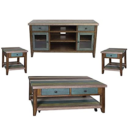 Amazon.com: Liberty 4 Piece Living Room Set Coffee Table TV Stand ...