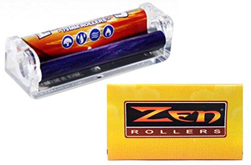 79 mm Cigarette Hand Roller Machine & 10 Zen Replacement Apron Sleeves by Zen