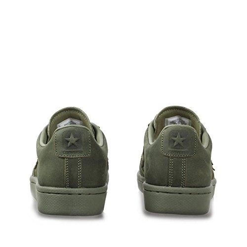Converse Pro Lederen Herfst Mono Lage Top Sneakers Vermoeidheid Groen