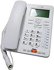 Ornin - Sistemas de teléfono con cable de 2 líneas para pequeñas empresas y casa, solo para teléfono de escrit