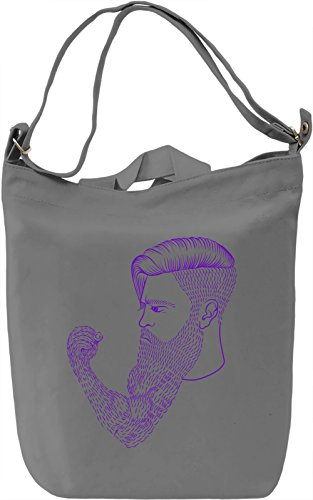 Beard power Borsa Giornaliera Canvas Canvas Day Bag| 100% Premium Cotton Canvas| DTG Printing|