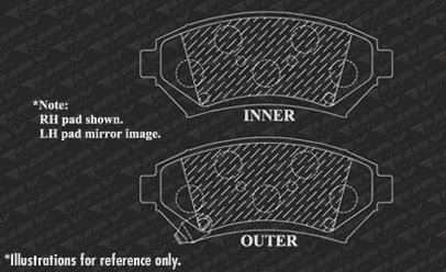 2001 01 Buick LeSabre w// 16 OE Wheels Max Brakes Front Carbon Ceramic Performance Disc Brake Pads KT011851 Fits