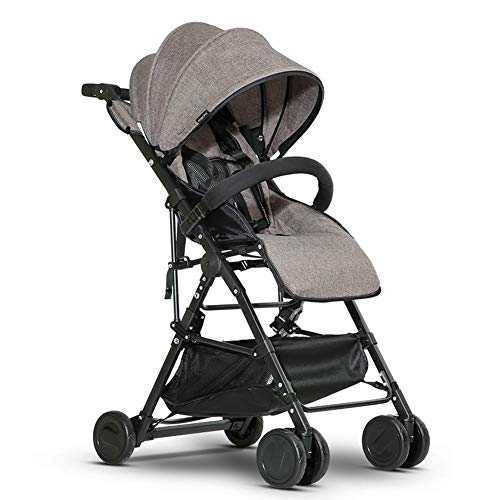 Lightweight Stroller/Portable Travel Aircraft Stroller Single Hand Folding with Brake/Fully Tilted 170 ° can sit or Lie with Back Support Plate/from Birth to 30kg