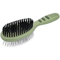 Safari Plastic Pin and Bristle Combo Dog Brush (Large), Pet Supplies for Dogs, Dog Brushes for Grooming, Dog Grooming Tools, Dog Gifts, Dog Accessories, Dog Supplies, Dog Brushes for Shedding