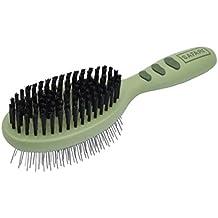 Safari Pin & Bristle Brush for Dogs with Plastic Handle
