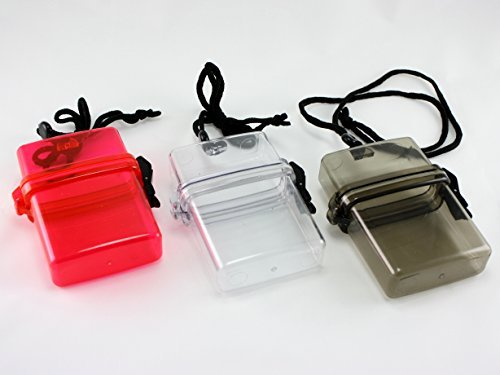 (Skyway Waterproof Cigarette Case Pack Holder Dry Box - Set of 3 - Black Clear)