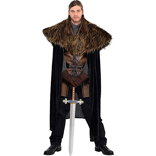 amscan Furry Shoulder Cape - Gracious God & Goddess]()