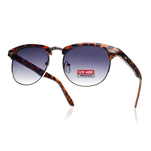 Vintage Original Retro las de Negro Unisex UV400 retro sol gafas de Hombres de mujeres Vintage brown Shades wqSXgUI