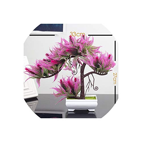 Artificial Plastic Indoor Desktop Decoration Potted Bonsai Small Plant Tree Fake Potted Plant Home Art S Decoration,Red Lotus (Flowers Zebra Print Artificial)