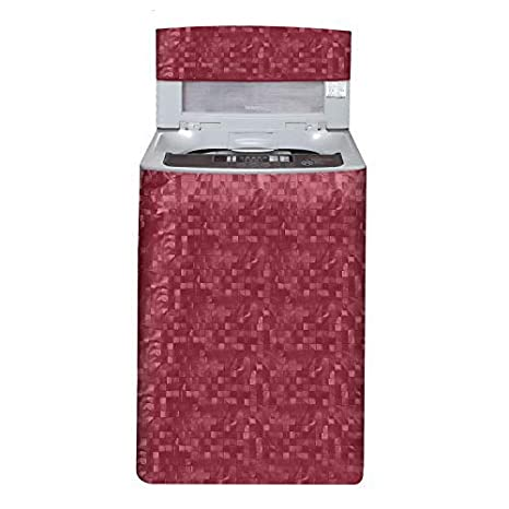 E Retailer trade; Waterproof Top Load Washing Machine Cover  Size : Suitable for 6 kg to 7 kg, Color : Red