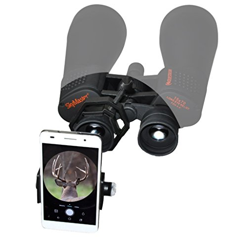 BoneView Optic Mount Smartphone Adapter - Universal Bracket Adapts to Binoculars Monocular Spotting Scope Telescope and Fits iPhone or Android Phone Camera