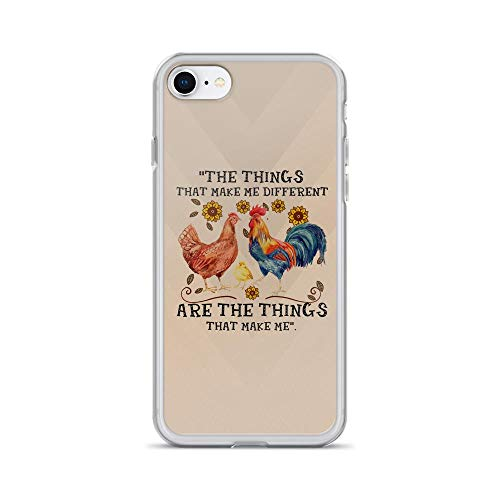 iPhone 7/8 Pure Clear Case Cases Cover The Thing That Makes Me Different Watercolor Cute Chicken