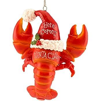 Amazon.com: Blown Glass Lobster Christmas Ornament: Home & Kitchen