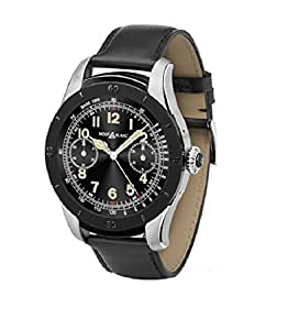 Montblanc Summit Smartwatch, PVD, 44mm, Leather strap, Black, 117548