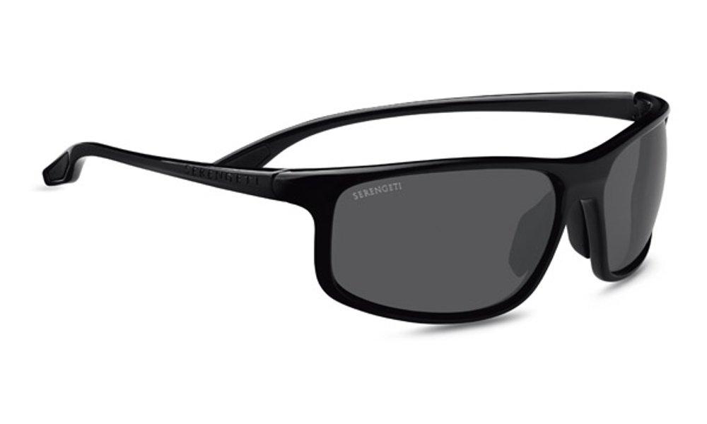 Serengeti Unisex's Levanzo Sunglasses Lenses Polarised Cpg, Shiny Black, Medium/Large 8611