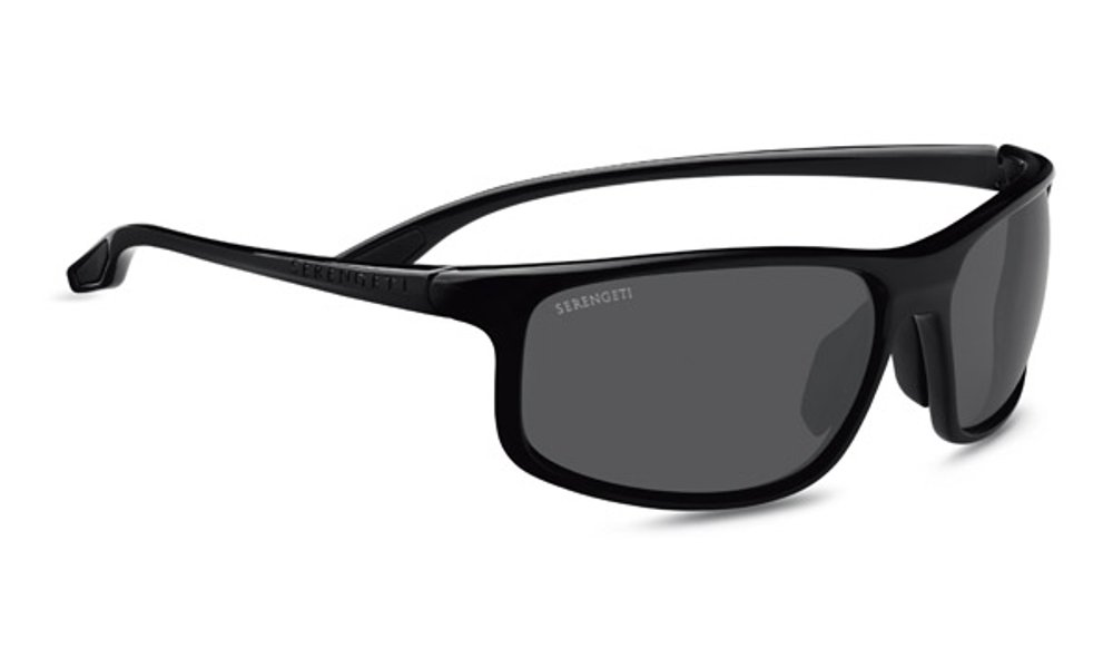 Serengeti Levanzo Sunglasses, Shiny Black by Serengeti
