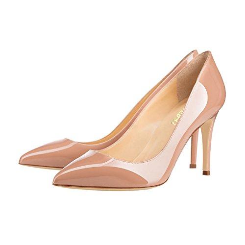 8 Nude patentti Pumput 3 on Seksikäs Slip Cm Kengät Toimiston Kengät Uk Naisten Teräväkärkiset 11 Liiketoimintaan Koko Stiletto 5 Korkokengät Vocosi qng7H7