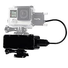 Suptig 5200mAh Waterproof Moblie Power for GoPro Hero 5/Hero 4/Hero 3+/hero3/Hero 4 session/Hero 5 session and Xiaoyi/Sj camera/Digital Camera and Smartphone