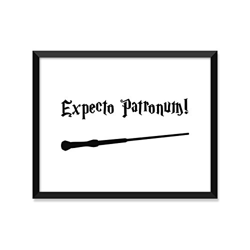 Expecto Patronum, Harry Potter Poster, Minimalist Poster, Home Decor, College Dorm Room Decorations, Wall Art