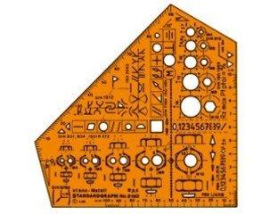 Standardgraph 8190 Zeichenschablone Stano Metall 155x155