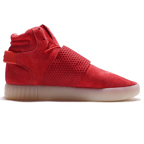 homme Sneakers Baskets pour Tubular Chaussures Hi Bb5039 Vintage Blanc Adidas Originals Top Invader Rouge Sangle zxXpFWSq