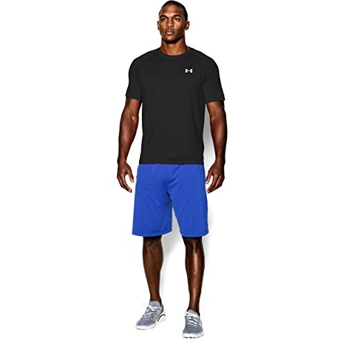 Under Armour Men's Tech S/S T-Shirt Black / White 4XL & HDO Workout Visor Bundle