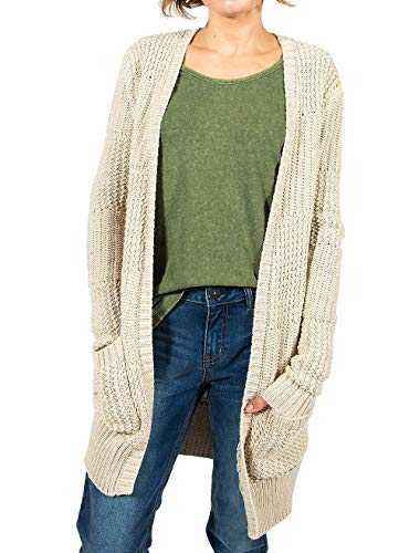Gramicci Womens Fireside Cardigan, Marled Sand, X-Small (Women Gramicci Pants)