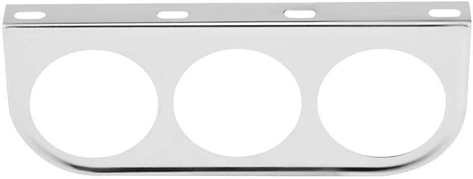 Gauge Holder Chrome 52mm 2 Inch Universal Multi Hole Meter Gauge Pillar Mount Pod Holder Bracket Silver