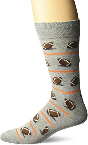 Hot Sox Men's Classic Fashion Crew Socks, Football (Sweatshirt Grey Heather), Shoe Size: 6-12]()