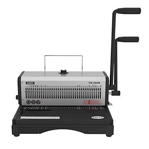 Rayson TD-200R Wire Binding Machine - 40 Holes Wire Equipment, 3:1 Pitch, All 40 Disengaging Dies, Round (Diameter 0.18'') Hole Punch, Heavy-Duty, 20 Sheets Single Punching Capacity by Rayson