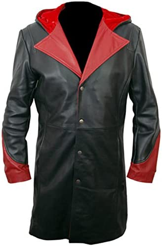 SRHides Mens Fashion Devil Genuine Leather May Cary Coat