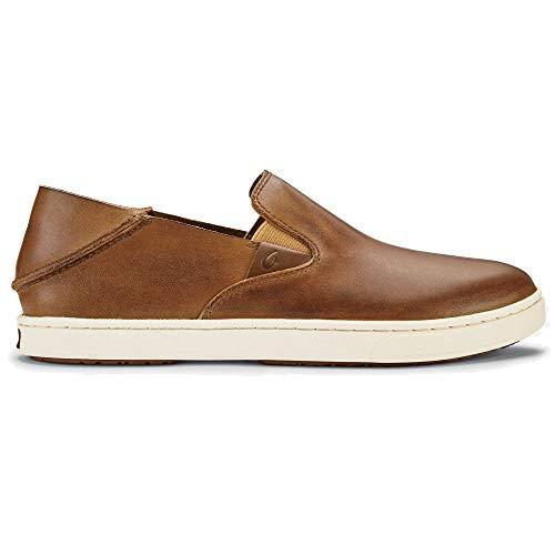 - Olukai Women's Pehuea Leather Shoes, Fox/Fox, 8